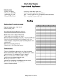 Standards Based Reading Rubric:  6th Six Weeks, 1st Grade