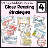Close Reading Strategies Poster for Informational and Literature COMPREHENSION