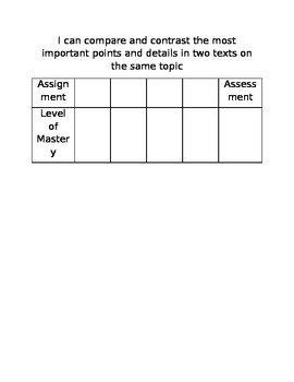 Standards Based Report Card - Data Tracking for Students