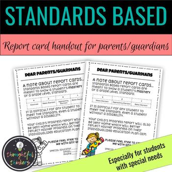 Standards Based Report Cards Worksheets & Teaching Resources