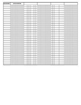 Standards Based Report Card Gradebook