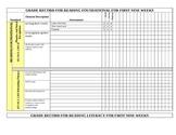 Standards Based Report Card for Gradebook