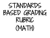 Standards Based Rubric (Math)