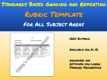 Standards Based Rubric Template