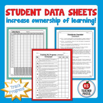 Standards-Based Student Data Notebook (Printable), 7th Grade ELA, OHIO
