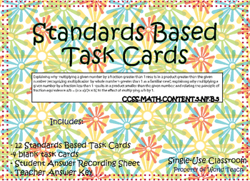 Standards Based Task Cards Numbers and Operations: Multipl