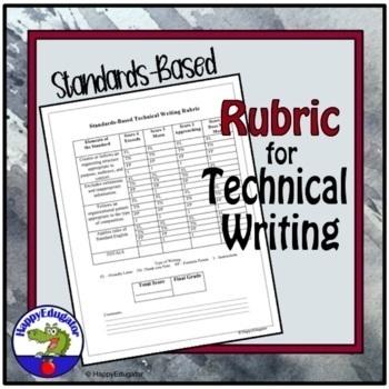 Standards-Based Technical Writing Rubric - Editable
