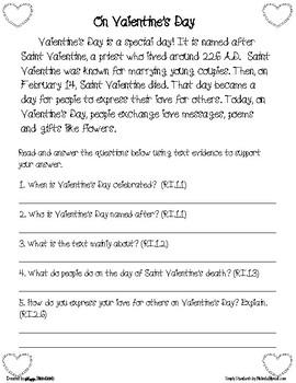 Standards-Based Valentine's Day Literacy Bundle