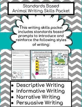 Standards Based Writing Skills Packet: Animal Theme