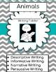 Standards Based Writing Skills Packet(Animal Theme)