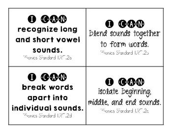 Standards Cards (1st Grade)