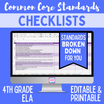 Common Core Checklist - Fourth Grade ELA