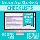 Common Core Checklist - Third Grade Math