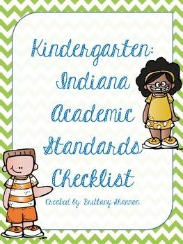 Standards Checklist- Indiana Kindergarten