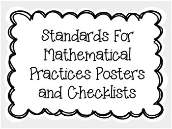 Standards For Mathematical Practices Posters and Checklists