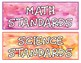 Standards Headings- Watercolor Background- Perfect for Your Display Board!