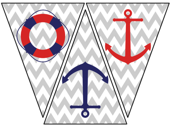 Standards Pennant Banner with Optional Nautical Accents
