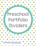 Preschool Portfolio Dividers
