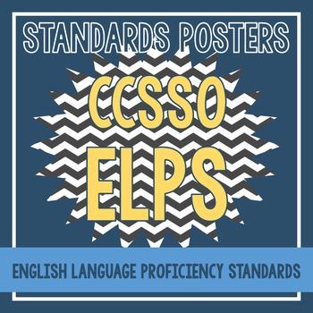 Standards Posters - CCSSO ELPS (Black Chevron)