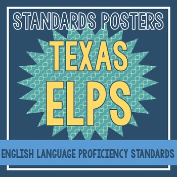Standards Posters - ELPS (Teal Squiggles)