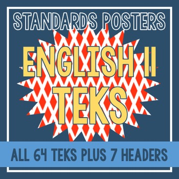 Standards Posters - English II TEKS (Red Diamond)