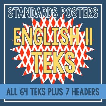 Standards Posters - English II TEKS (Red Diamond)