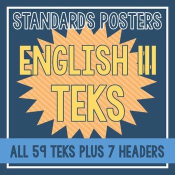 Standards Posters - English III TEKS (Orange Stripe)