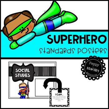 Standards Posters - Superhero Edition