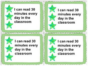 Standards/ Power Goal Cards and Editable Name Cards 1Green Level