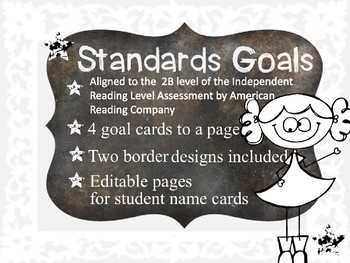 Standards / Power Goal Cards and Editable Name Cards White Level