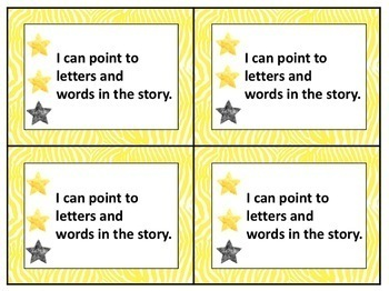 Standards / Power Goal Cards and Editable Name Cards Yellow 1-3 Levels