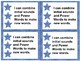 Standards/ Power Goal Cards and Editable Name Cards