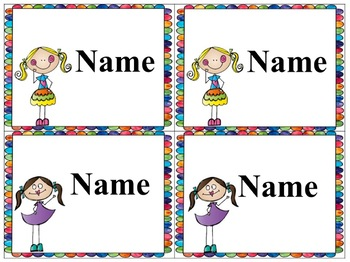 Standards/ Power Goal cards and Editable Name Cards 1Red Level