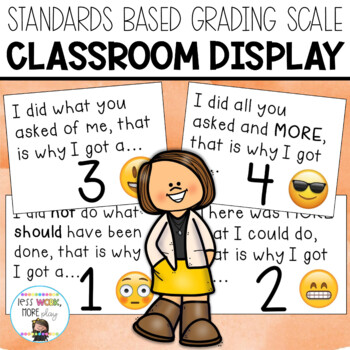 Standards Scale for Classroom Display