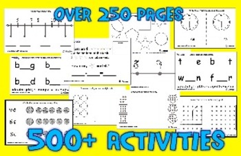 Standards Warm-Ups for Kindergarten - 500 Printable Activities - Over 250 Pages