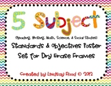 Standards and Objectives Posters {for Dry Erase Frames}