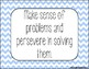 Standards for Mathematical Practice - Blue Chevron Classroom Decor Posters