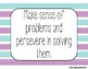 Standards for Mathematical Practice - Blue Purple Stripe Classroom Decor Posters