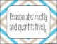 Standards for Mathematical Practice - Blue Tan Stripes Classroom Decor Posters