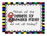 Standards for Mathematical Practice Classroom Check System