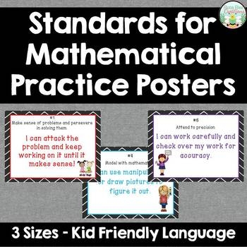 Standards for Mathematical Practice - Kid Friendly - With Pictures