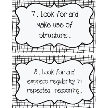 Standards for Mathematical Practice Mini Posters (2 designs!)