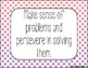 Standards for Mathematical Practice - Pink Purple Dots Classroom Decor Posters
