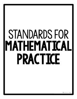 Standards for Mathematical Practice Poster Pack