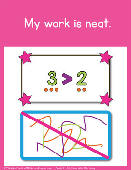 Standards for Mathematical Practice Posters - 1st Grade