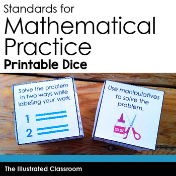 Standards for Mathematical Practice Printable Dice