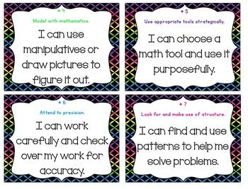 Standards for Mathematical Practice Posters - Pastel Brights
