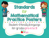 "Standards for Mathematical Practice Posters - Student-Friendly ""I Can"" Statement"