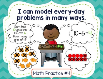 """Standards for Mathematical Practice Posters - Student-Friendly """"I Can"""" Statement"""