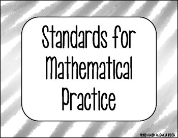 Standards for Mathematical Practice - Silver Zig-Zag Classroom Decor Posters